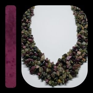 Jewelry - Multi Tourmaline Chip Necklace with SS Clasp